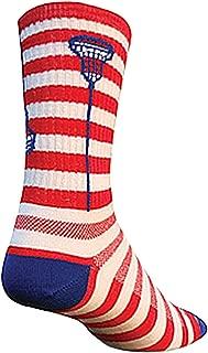 SockGuy Crew 6in Glow Sticks Lacrosse Socks (Glow Sticks USA - S/M)