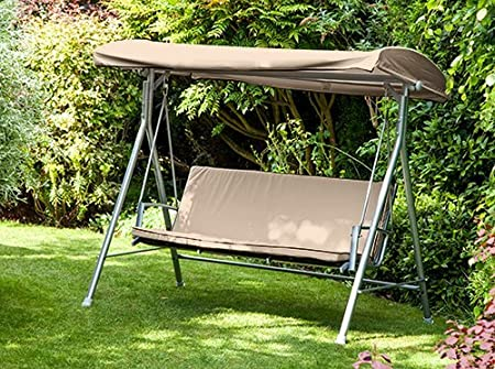 Gardenista Garden Swing Canopy Replacement For Argos Malibu Swing Seat Water Resistant Easy Clean Fabric 3 Seater Stone Amazon Co Uk Garden Outdoors