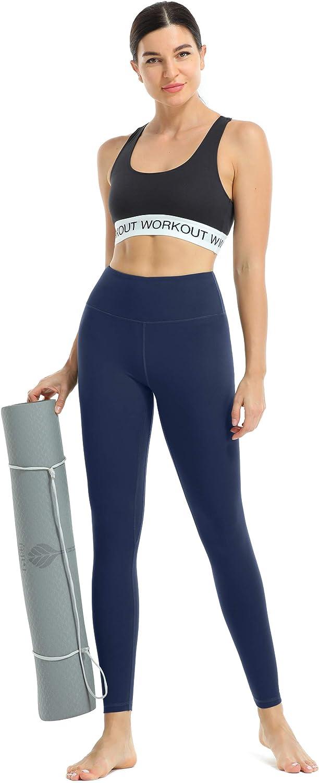 Squat-Proof Soft Running Workout Pants JOYSPELS Womens Leopard Embossed Yoga Leggings with 2 Pockets