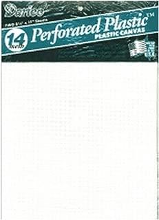 Darice Perforated Plastic #14 Mesh Plastic Canvas, White - 8.25