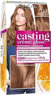 L'Oréal Paris Tinta Capelli Casting Creme Gloss, senza Ammoniaca per una Fragranza Piacevole, 713 Biondo Iced-Tea, Confezi...