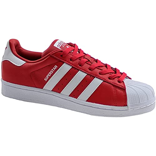 buy popular 3b1b1 2e8c1 Adidas Superstar BB2240 Men s Trainers, Red, 10.5UK (Manufacturer Size 45 1