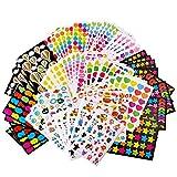 Gommettes Enfant (4500 Pièces) Autocollants Stickers Colorés pour Scrapbooking DIY Idéal Cadeau 16 Motifs 80 Feuilles