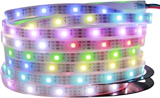 ALITOVE 16.4ft 150 Pixels WS2812B Individually Addressable RGB LED Strip Light Dream Color 5050 RGB SMD Tube Waterproof IP67 White PCB DC 5V for Arduino Raspberry Pi Project