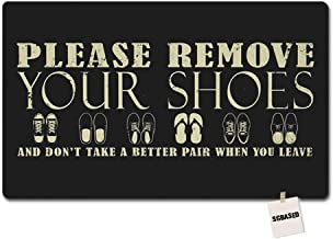 Please Remove Your Shoes and Don't Take A Better Pair When You Leave 003 Mat Washable Floor Entrance Outdoor & Indoor Rug ...