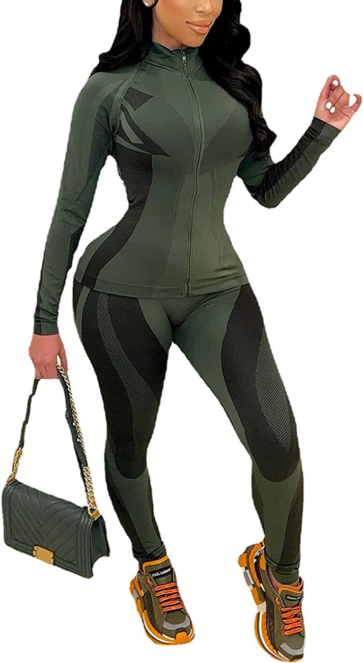 Outfits for Women Special sale item 2 Piece Tracksuit Zip Popular brand Long Full Sleeve Jack Up