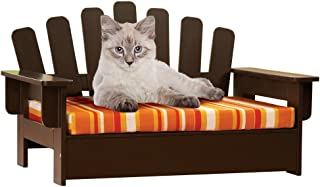 Etna Products Wooden Adirondack Pet Chair, standard, size is 22
