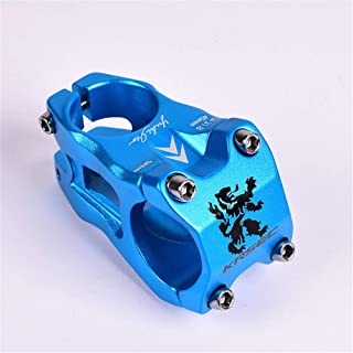 Bike stem Mountain Bike Bicycle Standpipe31.845MM Ultra Light Short Handle for Mountain Bike Road Riding Parts for Mountain Bike Road Bike BMX MTB (Color : Blue, Size : 28.6x31.8mm)