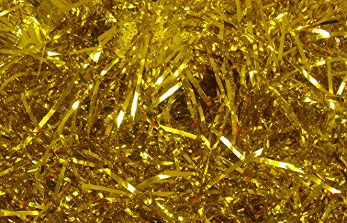 Nastro sfilacciato per riempire cesti di Natale, oro lucido (200 g)