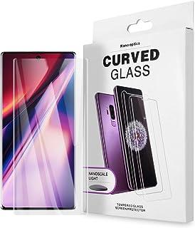 AICase Härdat glas för Samsung Galaxy Note 10+ plus 5G skärmskydd, 9H full 5D böjd kant, 0,18 mm stöd fingeravtrycksläsare...