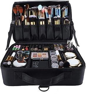 حقيبة مستحضرات التجميل للسفر من مكدو - منظم - فواصل قابلة للتعديل - سعة كبيرة لمستحضرات التجميل - إكسسوارات رقمية - أسود
