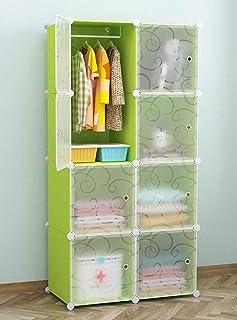 BUCKETLIST® Portable Bedroom Cube Cloth/Toy Storage Plastic Wardrobe/Modular Cabinet Storage Organizer Cube for Books, Toy...