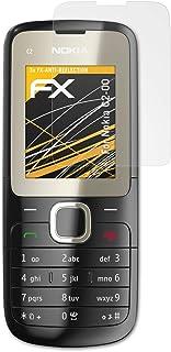 atFoliX Skärmskydd är kompatibel med Nokia C2-00 Skyddsfilm, antireflekterande och stötdämpande FX Film (3X)
