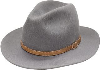 City Hunter Pmw91 Wide Brim Wool Felt Fedora Hat -3 Colors