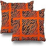 Funda de cojín Zebra Tiled Animal Zebra Zebra Skin Abstract Africa African African Animal Pillows Case Home Set de 2 Fundas de Almohada Decorativas Sofá Funda de cojín Funda de Almohada 45X45cm