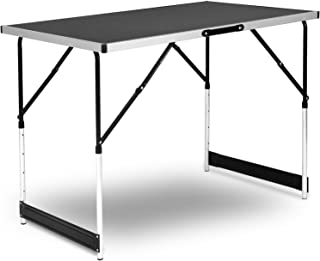 comprar comparacion WOLTU Mesa de Camping Mesa Plegable Mesa de Jardín Mesa de Trabajo Mesa de Balcón Altura Regulable Aluminio Acero MDF