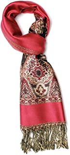 Premium Metallic Paisley Pashmina Scarf Shawl Wrap w/FREE Gift Box