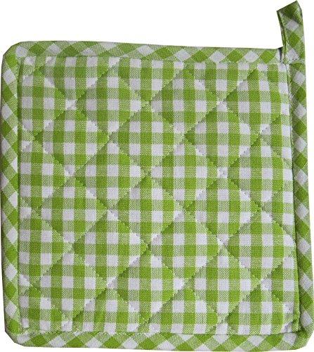 Topflappen Karo Vichy in 7 Farben, Farbe:Grün