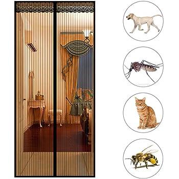 28x75inch GOUDU Mosquitera Magn/éTica Mosquiteras a Medida con Durable Anti Insectos Moscas y Mosquitos para Balcones Blanco 70x190cm