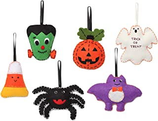 Christmas Tree Ornaments Ghouls and Friends 6 Pack Plush Felt Ornaments