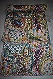 Tribal Asian Textiles Kantha Paisley Print Quilt, handgefertigt Kantha dekorative Bed-Cover, Twin Size Traditionelle Kantha Decke