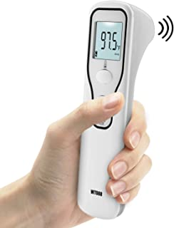 Forehead Thermometer,Non Contact infrared thermometer,Ear Thermometer Accurate Instant Readings,Digital Infrared Body Temporal Thermometer with Fever Alarm and Memory Function, LCD Digital Thermometer