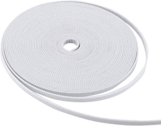 Hilitand 6mm Timing Belt 3D Printer Belt White GT2 Open Synchronous Belt PU with Steel Core 10M