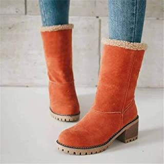 None/Brand Women Winter Fur Warm Snow Boots Ladies Warm Wool Booties Ankle Boot Comfortable Shoes Plus Size35-43 Casual Wo...