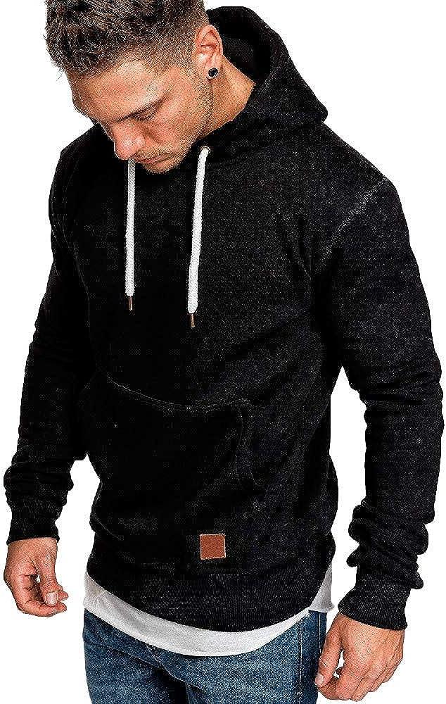 Hoodies for Men Contrast Color Mens Hoodies Pullover Fleece Hoodie Cozy Outwear Sweatshirts for Men Tops