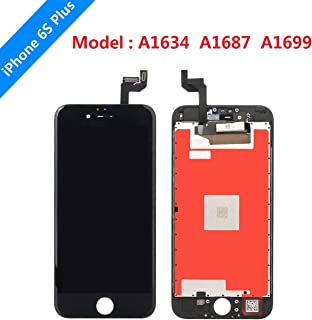 for Black iPhone 6s Plus Screen Replacement USlansis 3D Touch Screen Glass Digitizer Frame Assembly with Tempered Glass Screen Protector + Repair Tools + Instruction