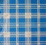 Tovaglie di carta - 100 tovaglie monouso cm. 100x100 - Fantasia scozzese blu e bianco