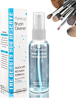 Makeup Brush Cleaner, Deep Clean Quick Dry Spray Non-Wash with Portable Travel Bottle Ideal Cleaning for Powder-based Make...