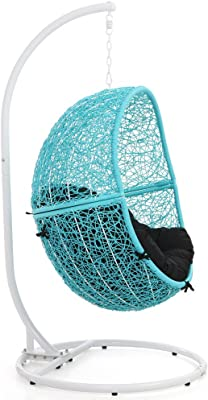 Amazon Com Trully Outdoor Wicker Swing Chair The