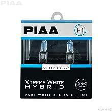PIAA 23-10101 H1 Xtreme White Hybrid Bulb, 3900K-12V 55W-Twin Pack, 2 Pack
