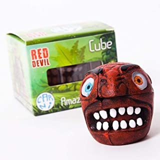 Rubiks 2x2 Cube, 3D Rubik Cube Puzzles, Mini Brain Teasers, Monster Stickerless Cubes Toys for Kids Desk Docoration (Red)