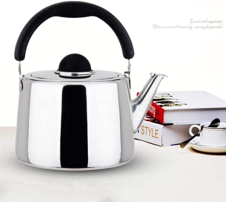 grand diamètre 304 bouilloire en acier inoxydable, épaissi, Chante, gaz, cuisinière à induction, GM, grande capacité, cuisine,3L 4l