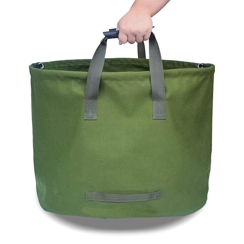 昨日侵入する大佐33ガロンガーデンバッグサックリーフガーデンガーデニング再利用可能な折り畳み式ポットは野菜栽培バッグを植えます (Color : Green)