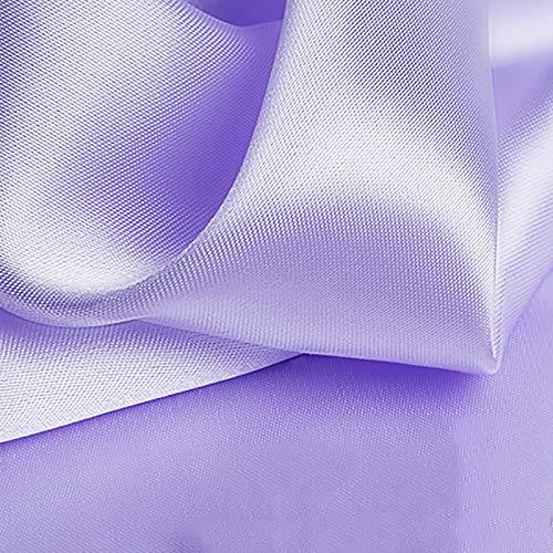 MUYUNXI Tela De Raso Forro De Tela para Vestidos De Novias Fundas Artesanías Vestidos Blusas Ropa Interior 150 Cm De Ancho Vendido por 2 Metro(Color:Morado Claro)