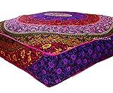ANJANIYA – Funda de almohada cuadrada grande para cama de