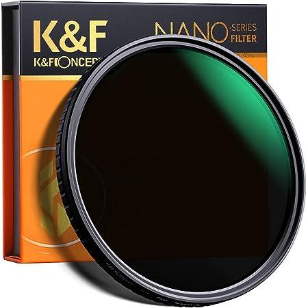 K&F Concept 82mm Fader ND Filter Neutral Density Variable Filter ND2 to ND32 for Camera Lens NO X Spot,Nanotec,Ultra-Slim,Weather-Sealed