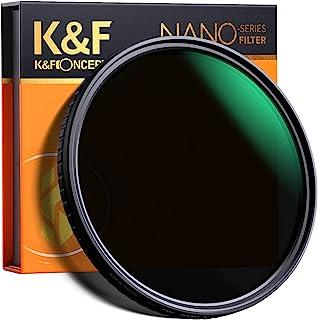K&F Concept 55mm Fader ND Filter Neutral Density Variable Filter ND2 to ND32 for Camera Lens NO X Spot,Nanotec,Ultra-Slim,...