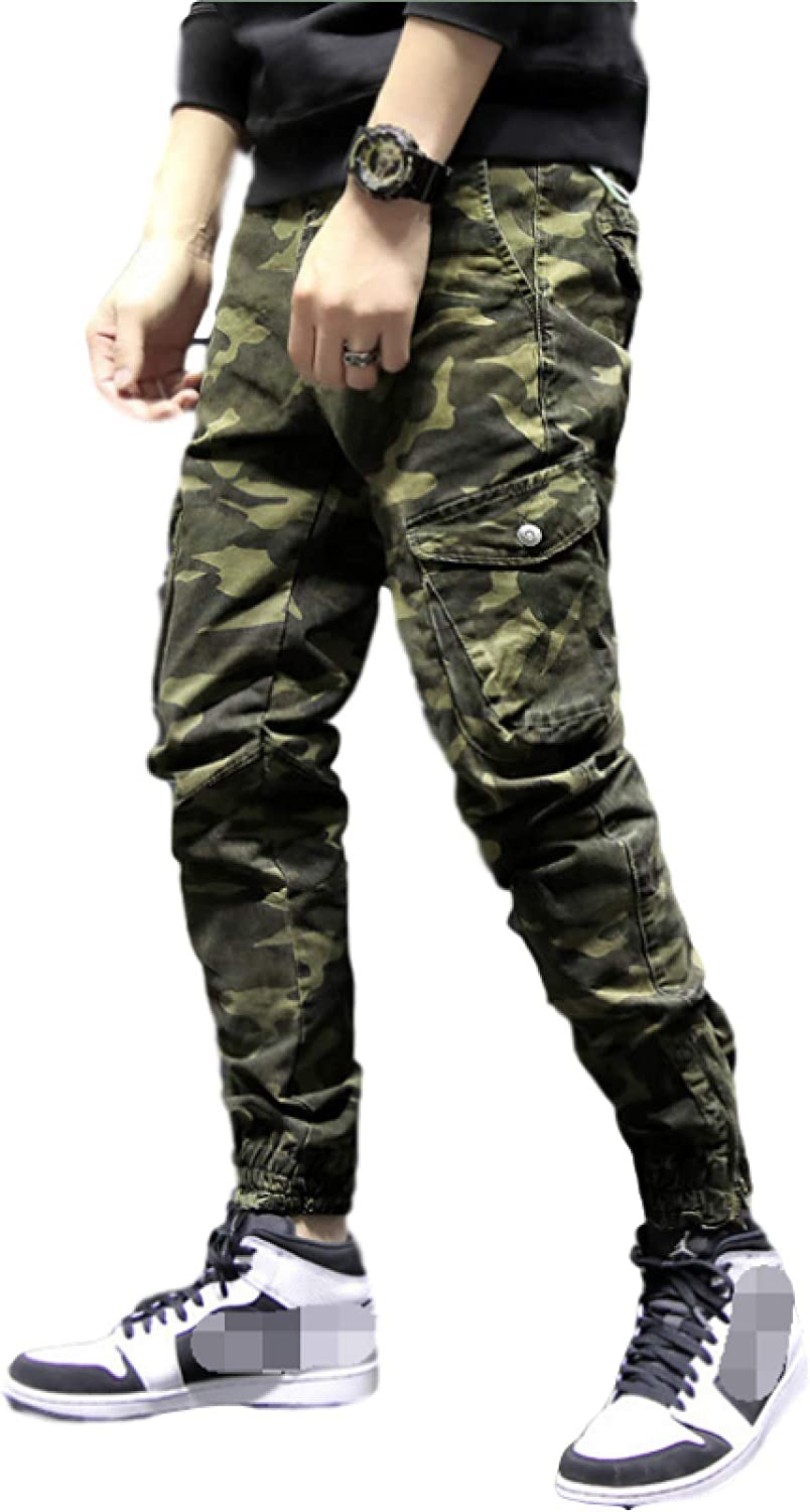 free Mens Military Style Camouflage Windproof Pants Waterproof Cargo