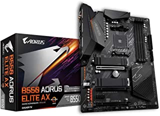 Gigabyte B550 AORUS Elite AX (AMD Ryzen 3000/B550/ATX/True 12+2 Phases Digital VRM/PCIe4.0/DDR4/USB3.2 Gen 1/Realtek ALC12...