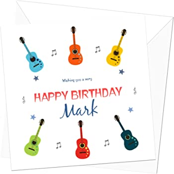 Guitars Music Personalised Birthday Card Special Card For Him Dad Friend Son Brother 21st 30th 40th 50th 60th 70th Amazon Co Uk Office Products