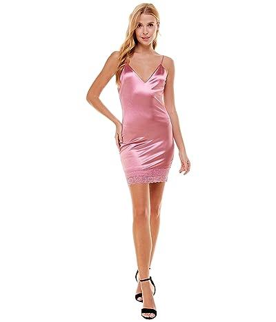 Bebe Satin and Lace Slip Dress