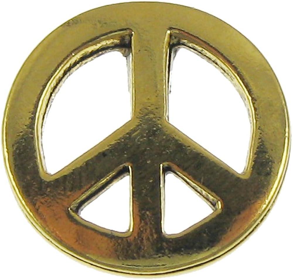 Jim Ranking TOP15 Clift Design Peace Pin Lapel Bargain sale Gold Sign