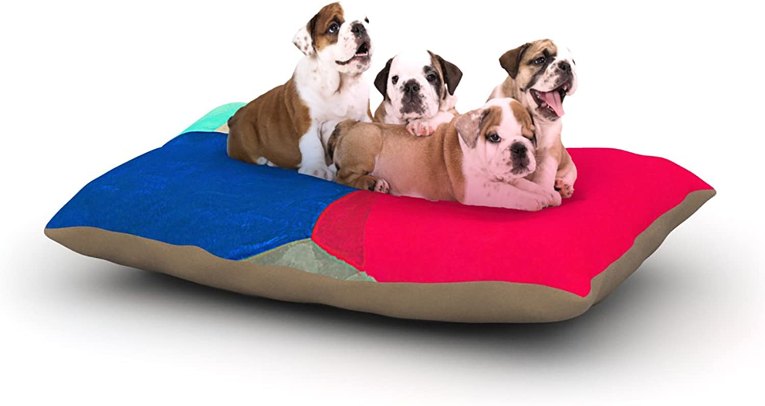 Kess InHouse Oriana Cordero Corner  Multicolor Geometry Dog Bed, 30 by 40Inch