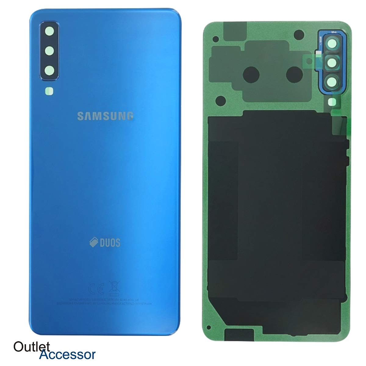 originale Tapa Trasera de Cristal Compatible con Samsung A7 2018 ...