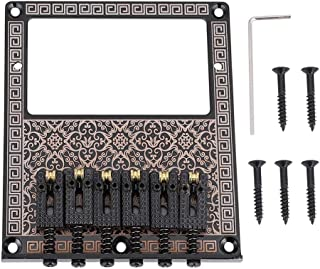 Guitar Bridge, Durable Saddle Bridge with Screws Wrench for TL Telecaster Electric Guitars Humbucker Pickup Slot (Black Kaleidoscope)