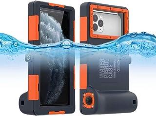 Funda impermeable para iPhone profesional (15 m/50 pies) sumergible para buceo, surf, natación, snorkel, con cordón (para ...